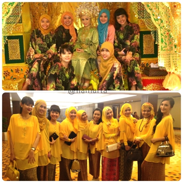 The bridesmaid. Top : acara akad & adat. Bottom : resepsi.