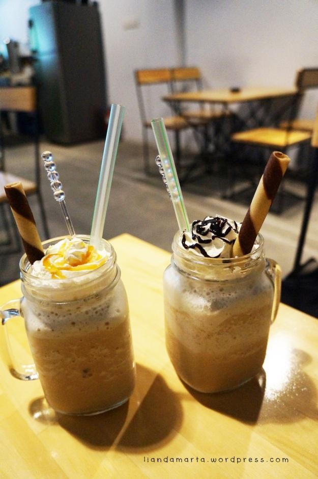 Caramel Frappe & Hazelnut Frappe