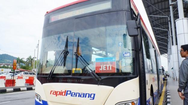 Bus bandara Penang ke kota